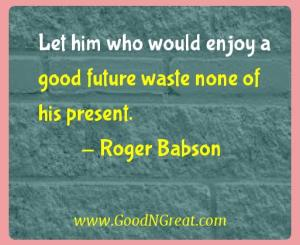 Roger Babson Success Quotes