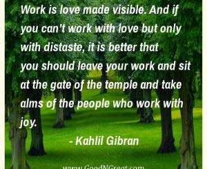 Kahlil Gibran Workplace Quotes