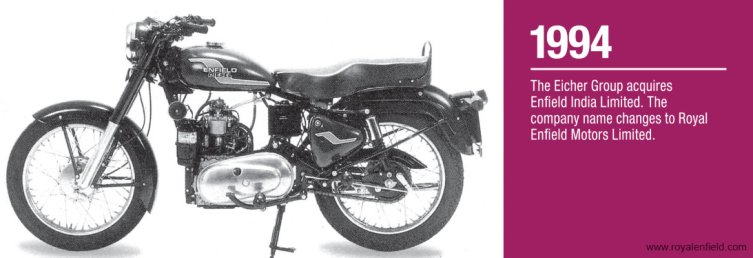 Royal Enfield History - 1994