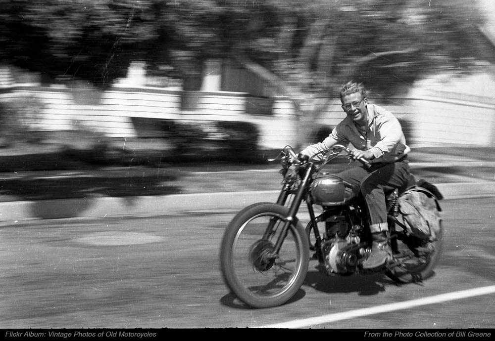 Bill Greene III on a BSA Gold Star