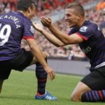 VIDEO: Podolski & Cazorla net their first Arsenal goals