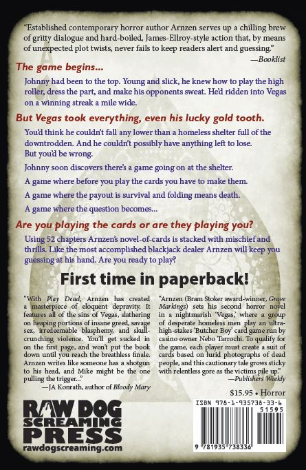back cover copy to Play Dead (2013)