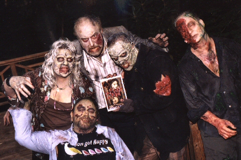 Cast Members of Hell on Earth Pose with Play Dead