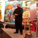 Blake Burkhead recites a gorelet from memory.