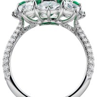 A Gorgeous 3.71 Ct Emerald and Diamond Ring in 18k White Gold