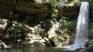 Gozalandia Upper Waterfall in San Sebastian PR 2
