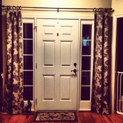 Small Of Front Door Curtains