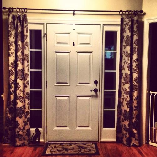 Medium Crop Of Front Door Curtains