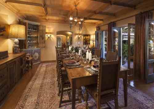Medium Of Rustic Dining Room
