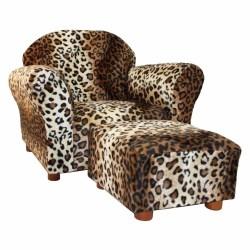 Pretentious Kidssofa Chair Kids Club Chair Ottoman Set Leopard Brown Tan Animal Faux Ottoman Set Zebra Sofa Ideas Chair Ottoman Kids Sofa Chair
