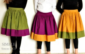 Vintagely Modern Skirt tutorial from Simple Simon & Co.