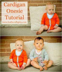 Cardigan onesie tutorial