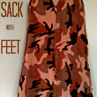 sleep sack with feet #tutorial by Easier Than I Thought