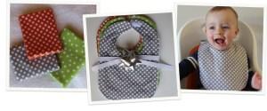 Baby Bib tutorial by Haberdashery Fun #baby #bib #sew
