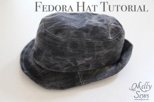 Featured: Fedora Hat Tutorial - SEWTORIAL
