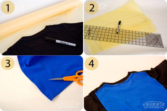 t-shirt cape tutorial