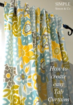 tab top curtain tutorial