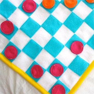 Featured: Take Along Felt Checker Board Tutorial