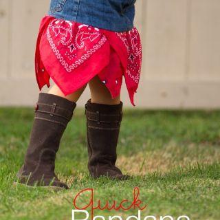 Featured: Quick Bandana Skirt