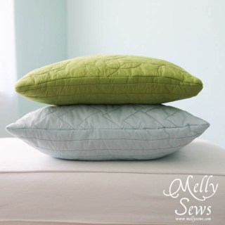 easy quilted pillow