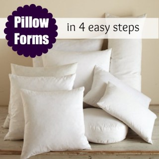 Featured: Pillow Form Insert Tutorial