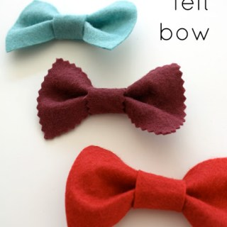 Featured: Simple Felt Bow Tutorial