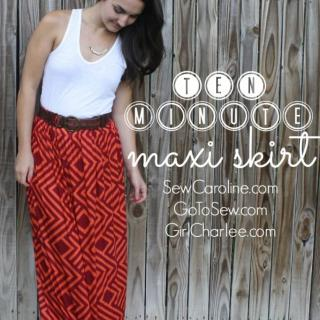 DIY Maxi Skirt tutorial