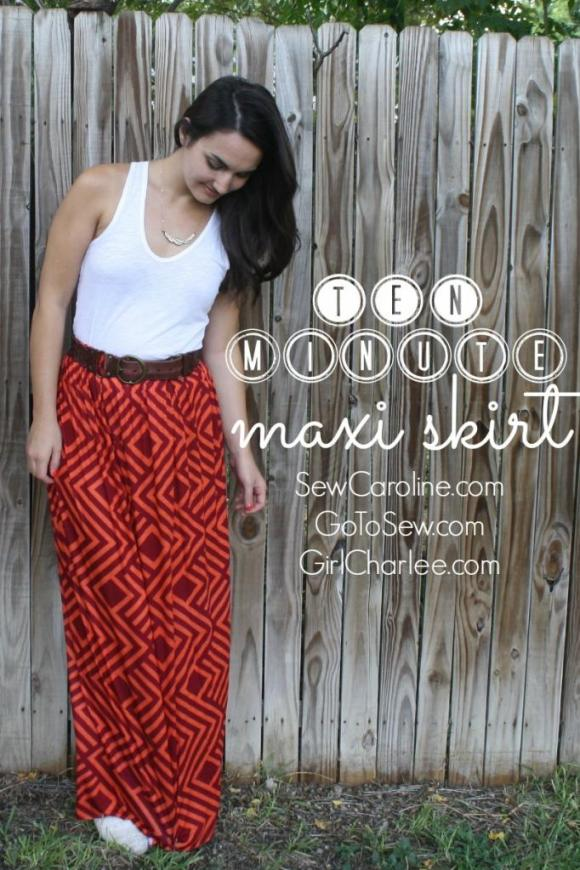 DIY Maxi Skirt tutorial - SEWTORIAL