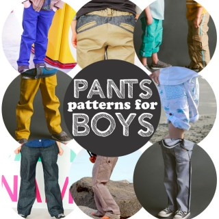 Pants sewing patterns for boys!