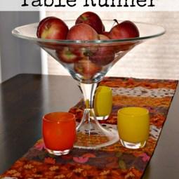 fall table runner