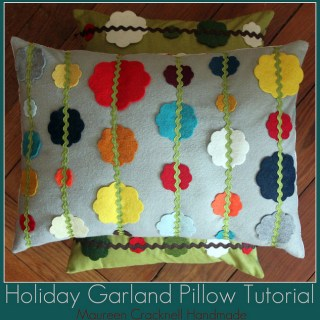 Featured: Holiday Garland Pillow Tutorial