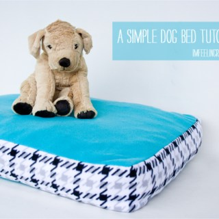 A Simple Dog Bed Tutorial