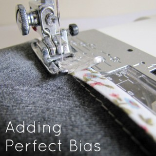 Sewing on Bias Binding Tutorial