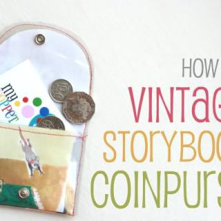 Vintage Storybook Coin Purse Tutorial