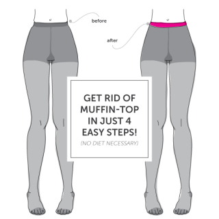 De-Muffin Top Your Tights Tutorial