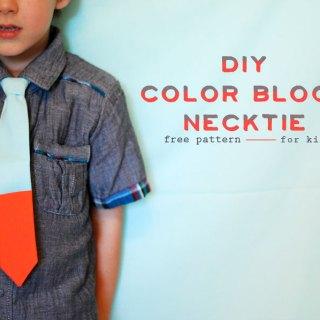 Color Block Necktie Tutorial