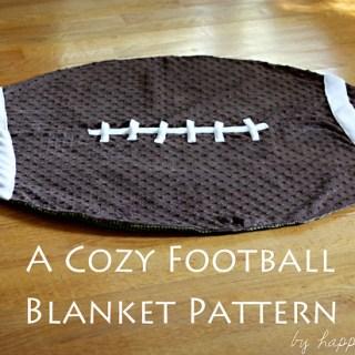 Cozy Football Blanket Tutorial