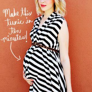 No Sew Maternity Tunic Tutorial