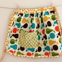 gathered apron
