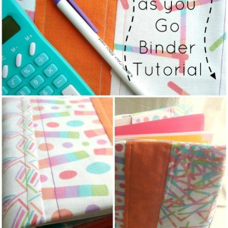 Quilt As You Go Binder Cover Tutorial