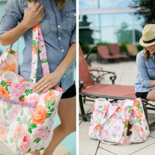 Oilcloth Pool Tote Tutorial