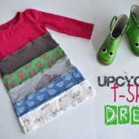 upcycled t-shirt dress