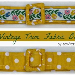 Reversible Fabric Belt Tutorial