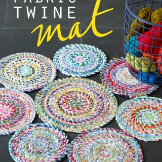 Fabric Twine Mats Tutorial