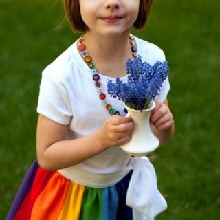 Rainbow Wrap Skirt Tutorial