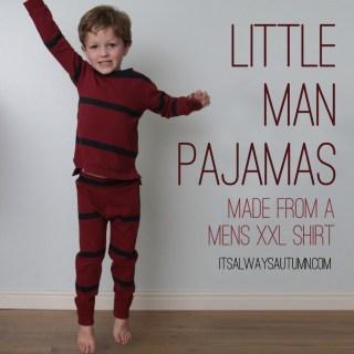 Little Man Pajamas Tutorial
