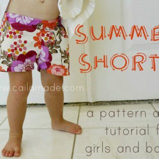 Kids Summer Shorts Tutorial