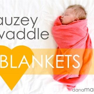 Gauze Swaddle Blanket Tutorial