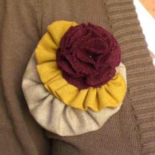 Fall Fabric Brooch Tutorial