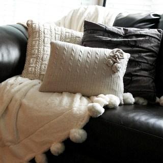 Sweater Pillows Tutorial